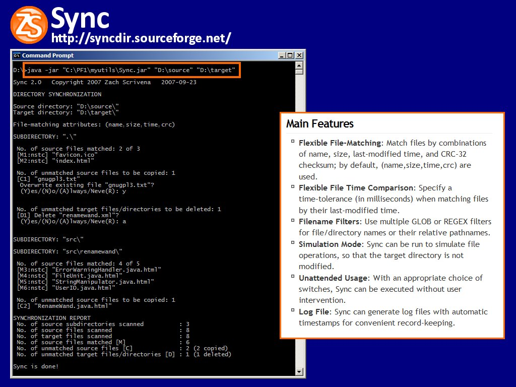 Click to view Sync 2.1 screenshot